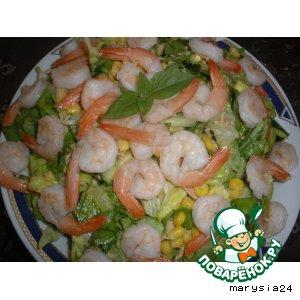 Тунец - Салат с креветками и тунцом