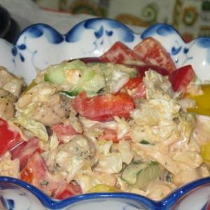 Перец зеленый - Салат с курицей и китайской капустой