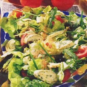 Одуванчик - Салат с листьями одуванчика