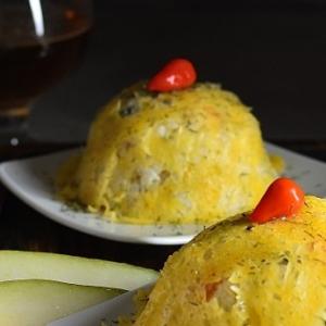 Перец душистый - Салат с мидиями под сырной паутинкой