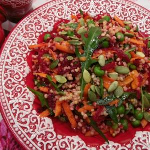 Вегетарианская кухня - Салат с пшеном и овощами