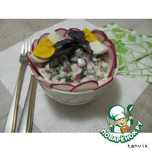 Шнитт-лук - Салат с редисом и базиликом