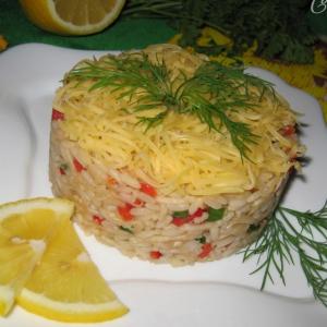 Капуста кольраби - Салат с рисом, кольраби и болгарским перцем