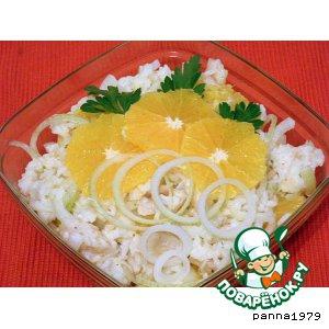 Хек - Салат с рыбой и апельсинами