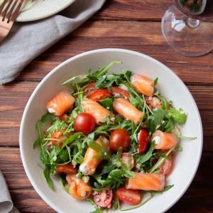 Салаты рыбные - Салат с семгой и кус кусом