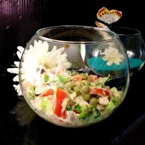 Салат - Салат с сырно-горчичной заправкой