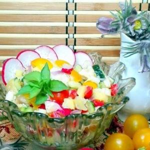 Салаты рыбные - Салат с треской и овощами