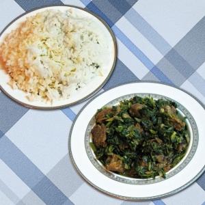 Тушеное мясо - Савзи говормэ зеленое жаркое