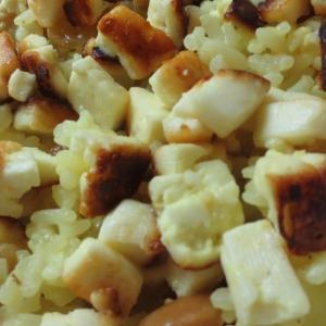 Кешью - Шафрановый рис с сырными шариками