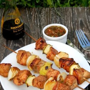 Индейка - Шашлычки из индейки с яблоками и луком