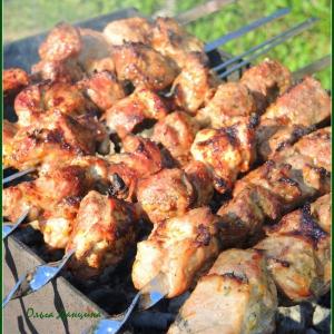 Лайм - Шашлык из свиной шейки в цитрусовом маринаде