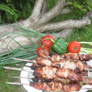 Блюда для пикника - Шашлык Мцвади на мангале