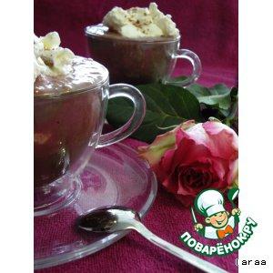 Мороженое - Шоколад с мороженым и малиной