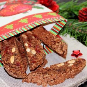 Рецепты средиземноморской кухни - Шоколадные бискотти с вяленой вишней Подарочные