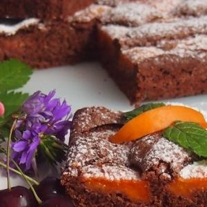 Абрикос - Шоколадный абрикосовый пирог