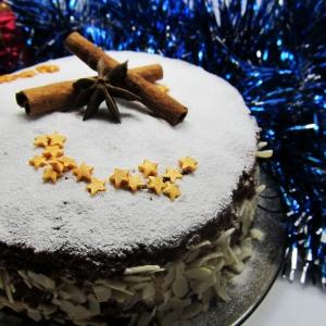 Ваниль - Шоколадный торт с арахисовым кремом