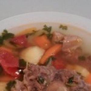 Узбекская кухня - Шурпа из баранины
