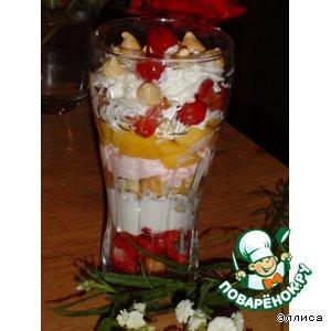 Черешня - Слоеный десерт