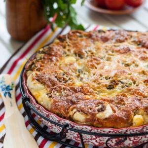 Тмин - Слоеный пирог с фаршем и капустой