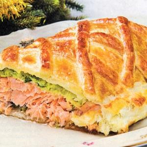 Рецепты из теста - Слоеный пирог с лососем