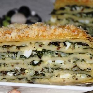 Фет - Слоеный пирог с рисом и шпинатом