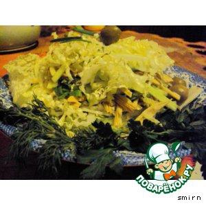 Редька - Слоeный салат  из  спаржи