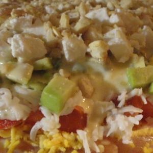 Васаби - Слоеный салат с красной рыбой