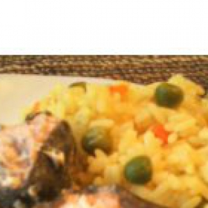 Горбуша - Сочная горбуша и рис с овощами в пароварке