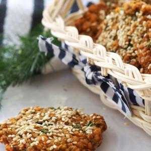 Тмин - Соленое печенье из пшенных хлопьев с укропом