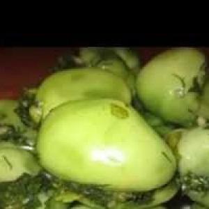 Рецепты кавказской кухни - Соленые помидоры с зеленью по-грузински