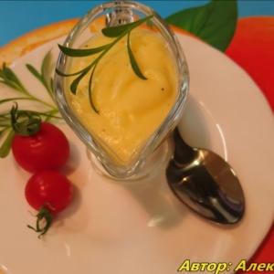 Масло сливочное - Соус Голландский