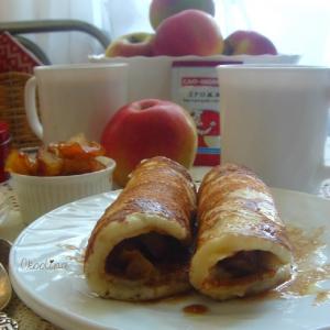 Яблоко - Соус с карамельными яблоками и коньяком