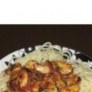 Мидия - Спагетти с морепродуктами