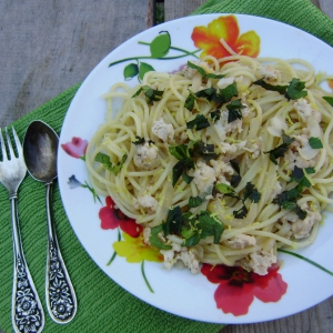 Мята - Спагетти с мясом и вином