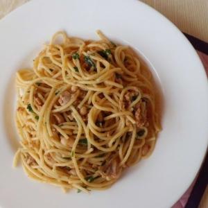 Рыбные субпродукты - Спагетти с печенью трески
