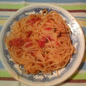 Мята - Спагетти с соусом Диаволино