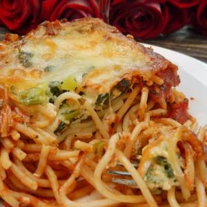 Шпинат - Спагетти со шпинатом и адыгейским сыром