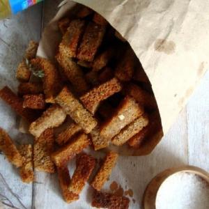 Хлеб - Сухарики солёные с тимьяном