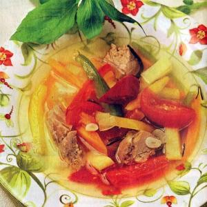 Рецепты супов - Суп из баранины с овощами