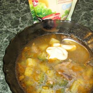 Брокколи - Суп из брокколи с куриным мясом