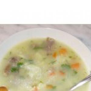 Субпродукты - Суп из куриных потрохов