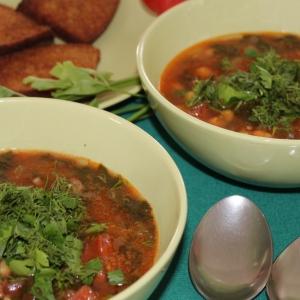 Нут - Суп из турецкого гороха с испанской колбасой чоризо