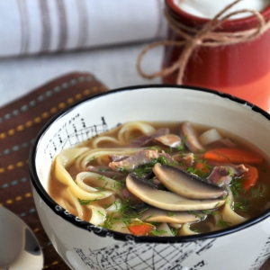 Желудки - Суп-лапша с куриными потрошками