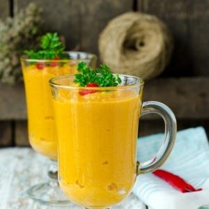 Шалфей - Суп пюре из фасоли и моркови с красным перцем