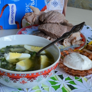 Крапива - Суп рисовый с крапивой Витаминный