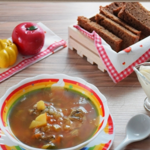 Салат радичио - Суп рыбный Чиполлино-рыбак