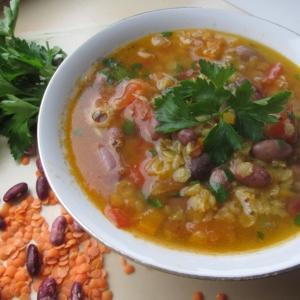Фасоль - Суп с фасолью и чечевицей