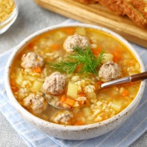 Морковь - Суп с фрикадельками и булгуром