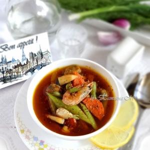 Морепродукты - Суп с морепродуктами Наж