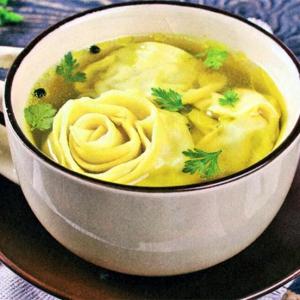 Пельмени - Суп с пельменями и овощами